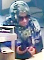 The FBI and San Diego Police Department are seeking the public's assistance to identify the bank robber, believed to be female, of the Comerica Bank branch.