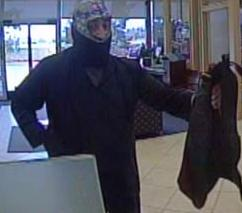The FBI and San Diego Sheriff's Department seek assistance to identify an unknown male bank robber who attempted to rob the California Bank and Trust in Valley Center.