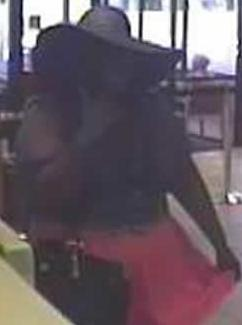 On Wednesday, September 17, 2014, an unknown black female robbed the Wells Fargo Bank branch located at 245 Santa Helena in Solano Beach, California.