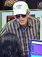 The FBI and San Diego Sheriff's Department seek assistance to identify the unknown male responsible for robbing the Bank of America in Ramona, California.