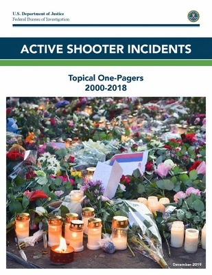 Active Shooter Incidents: Topical One-Pagers, 2000 - 2018