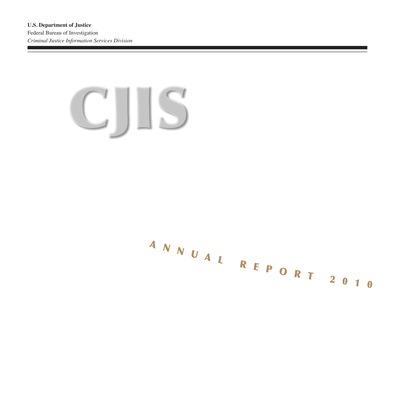 2010 CJIS Annual Report