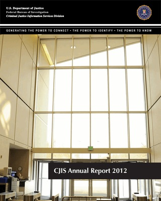 2012 CJIS Annual Report