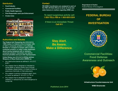 Commercial Facilities: Food Defense Awareness and Outreach