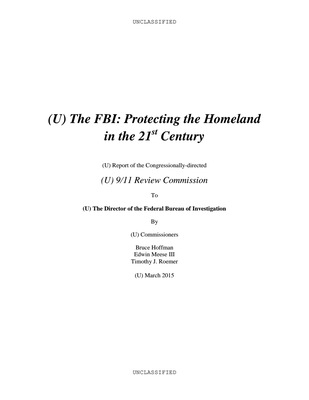 9-11 Review Commission Report (Unclassified)