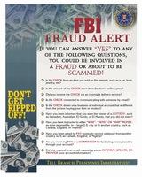 Fraud Alert Poster
