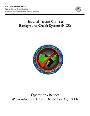 1998-1999 NICS Operations Report