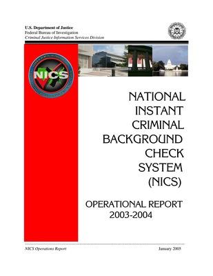 2003-2004 NICS Operations Report