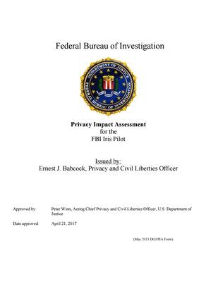 PIA: FBI Iris Pilot