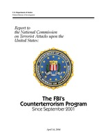 FBI's Counterterrorism Program since 9/11 - April 2004