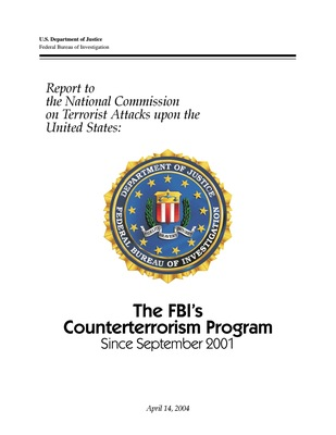 FBI's Counterterrorism Program since 9/11 - April 2004 (pdf)