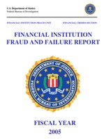 Financial Institution Fraud/Failure Report - 2005 (pdf)