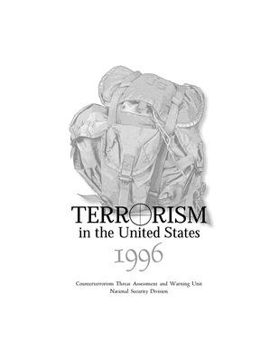 Terrorism Report - 1996 (pdf)