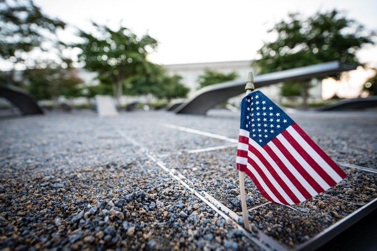 U.S. Flag at Pentagon 9/11 Memorial