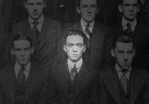 J. Edgar Hoover is seen in a George Washington University Law School yearbook graduating class picture from 1916.