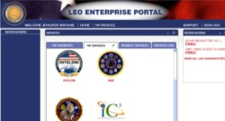 Screenshot of LEO Enterprise Portal (2012)
