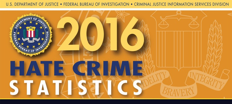 Graphic from the 2016 Hate Crime Statistics report.