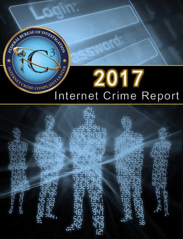 Screenshot of cover of the Internet Crime Complaint Center's (IC3) 2017 Internet Crime Report.