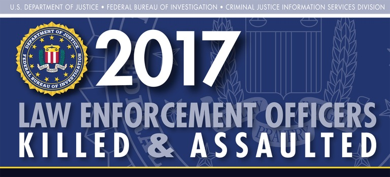 Graphic from the 2017 Law Enforcement Officers Killed and Assaulted report.