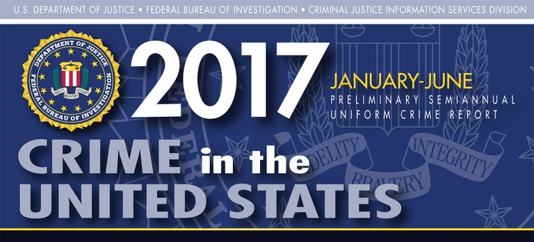 Graphic from the 2017 Preliminary Semiannual Uniform Crime Reporting Program's Crime in the United States Report.