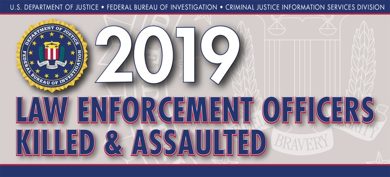Graphic from the 2019 Law Enforcement Officers Killed and Assaulted report.