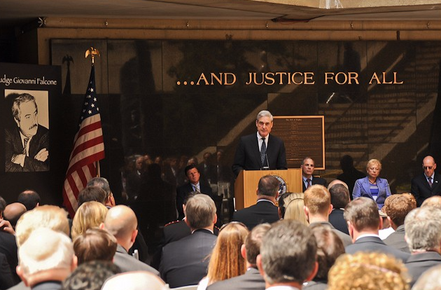"On May 2012, Director Robert S. Mueller told the audience of American and Italian law enforcement honoring Judge Giovanni Falcone on the 20th anniversary of his murder by organized criminals in Italy that the relationships Falcone forged years ago between the Italian National Police and the FBI ""have borne tremendous fruit in this age of international crime and terrorism. Those friendships have set the standard for global cooperation among law enforcement."""