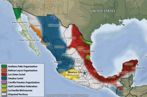 MDTOs contract with street and prison gangs along the Southwest border to enforce and secure smuggling operations in Mexico and the United States, particularly in California and Texas border communities