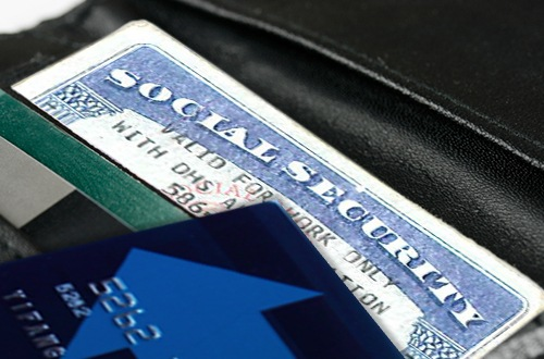 Social Security Car in Wallet