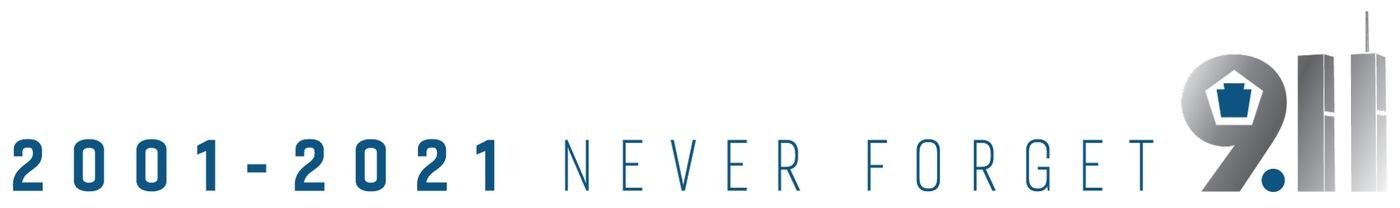 9/11 20th anniversary logo banner