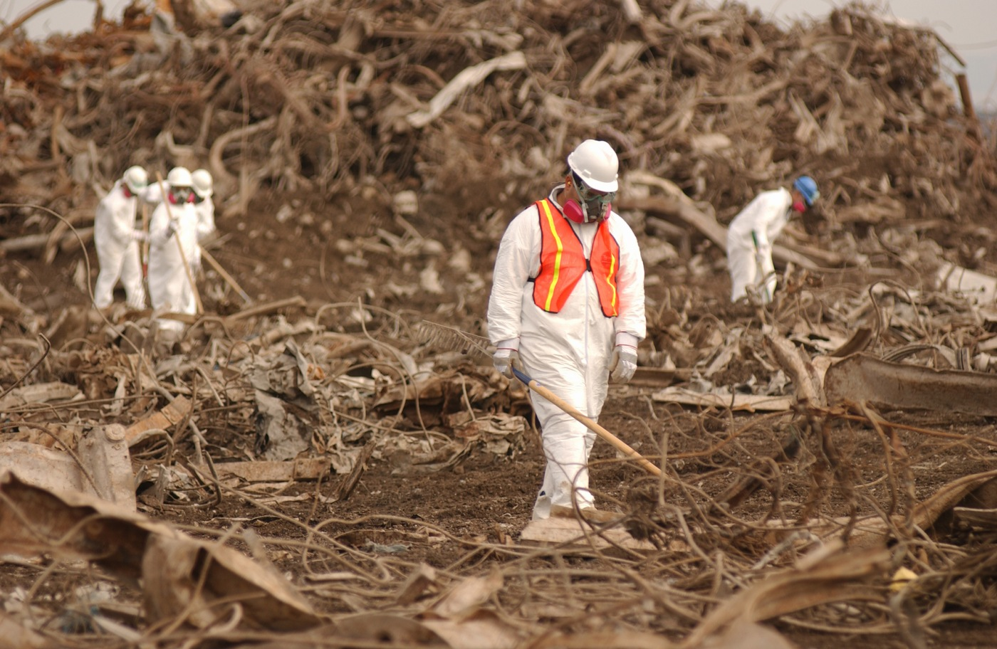 ERT at Fresh Kills Landfill site in New York after 9/11.
