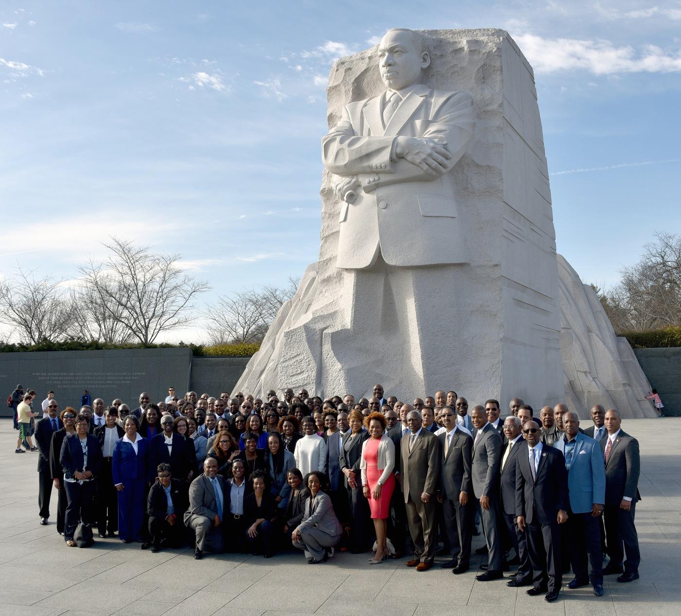 AASA Symposium Participants at MLK Memorial