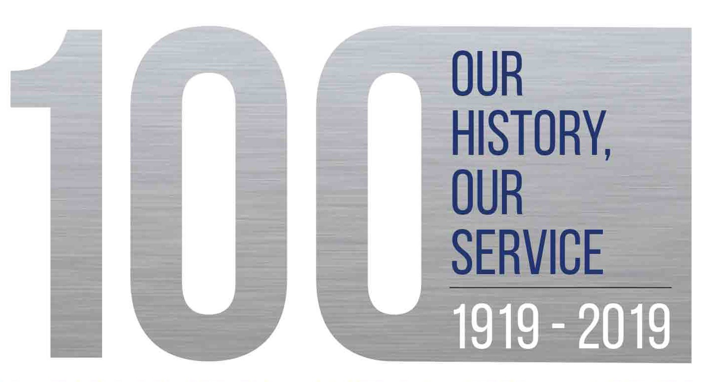 Logo for the 100th anniversary of African-American special agents, 1919-2019.