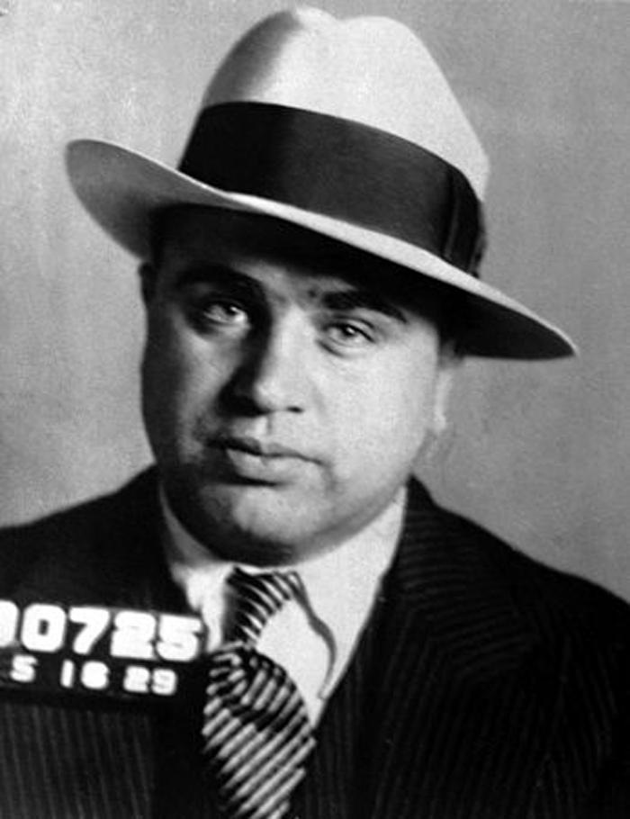 Mug shot of Al Capone on May 16, 1929.