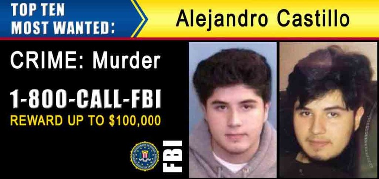 Example of digital billboard display featuring Ten Most Wanted Fugitive Alejandro Castillo, wanted for the 2016 murder of a woman in Charlotte, North Carolina.
