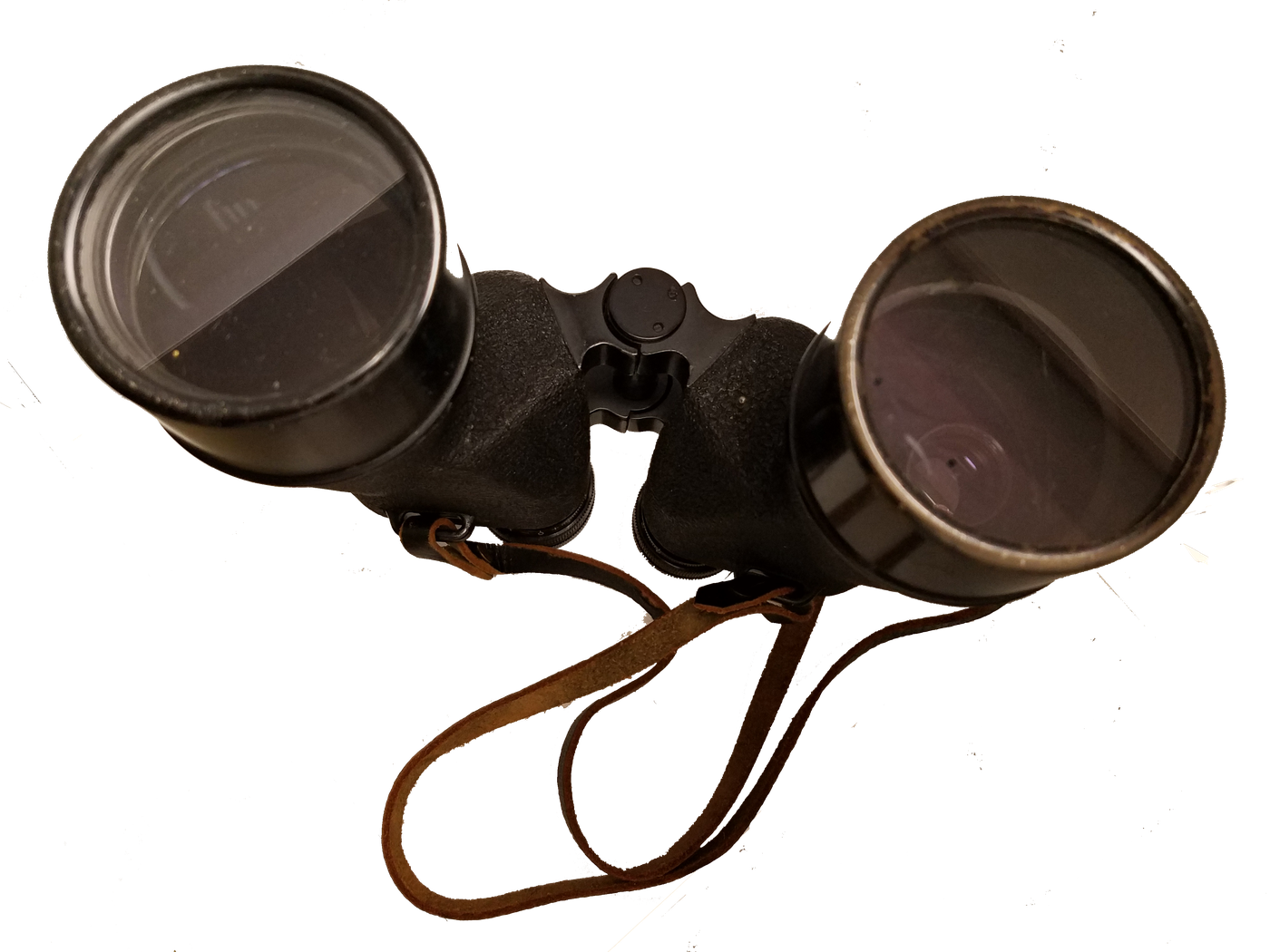 Photo of binoculars fitted with a concealed camera.
