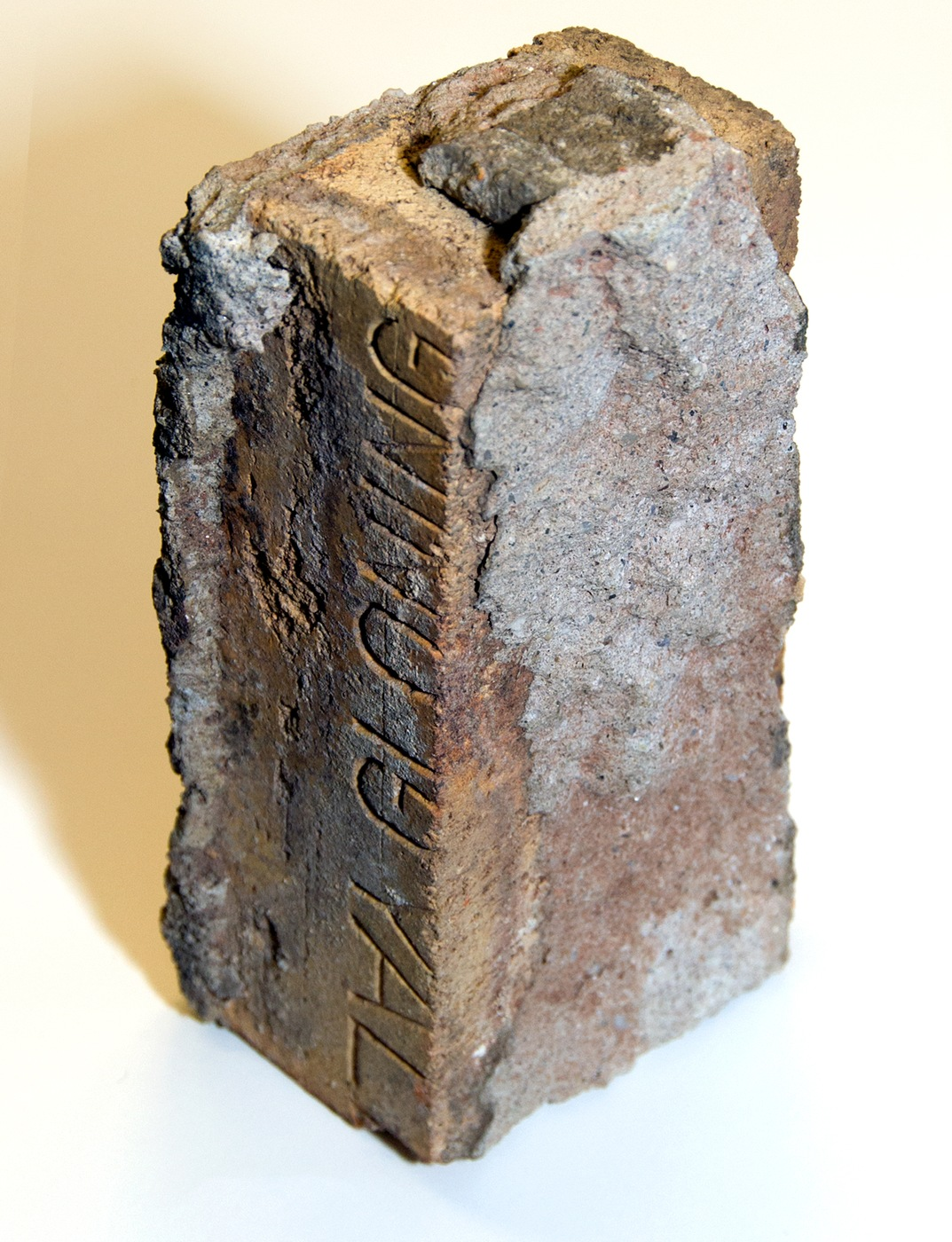 Photo of a brick from the scene of mobster Dutch Schultz's murder in 1935.