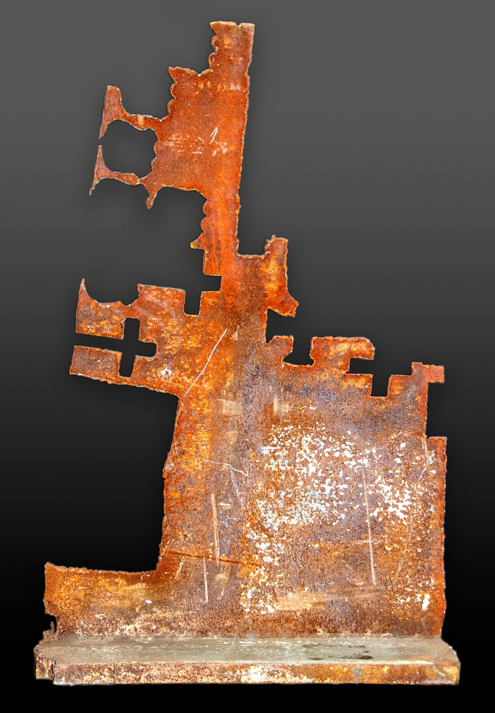 Photo of a piece of steel found in the aftermath of the Sept. 11, 2001 attack on the World Trade Center.