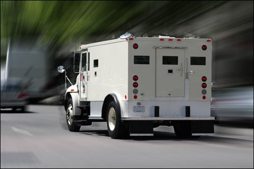 Armored Car in Motion