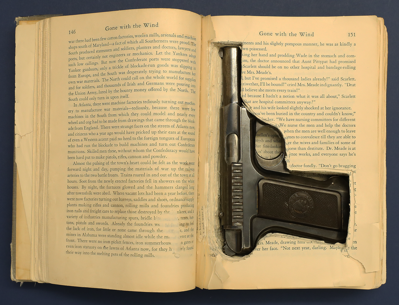 "The FBI's February 2020 Artifact of the Month is a rare first edition of Margaret Mitchell's ""Gone with the Wind"" used to conceal a .32-caliber pistol."