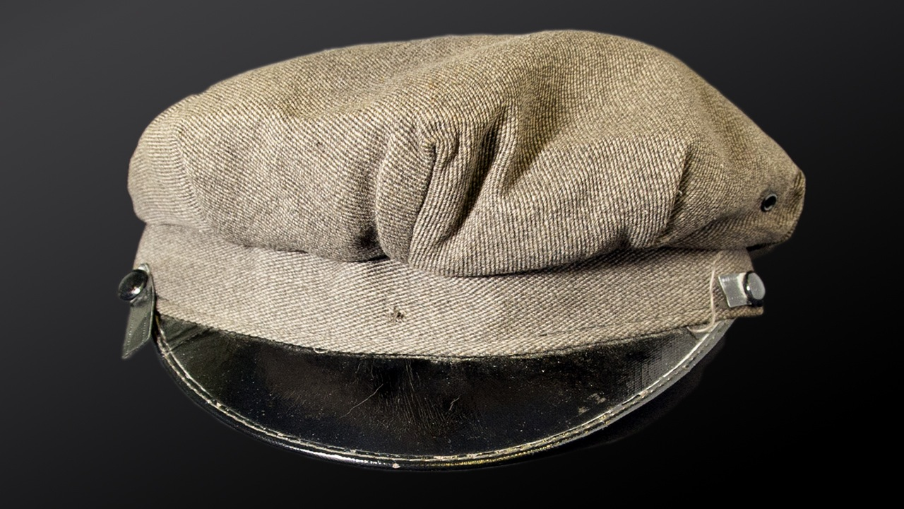 The FBI's January 2020 Artifact of the Month is the chauffeur's cap left at the crime scene of the January 17, 1950, armed robbery from a Brink's bank branch in Boston.