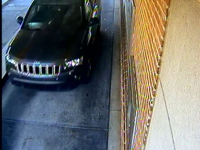 Jeep used in Armored Card Robbery