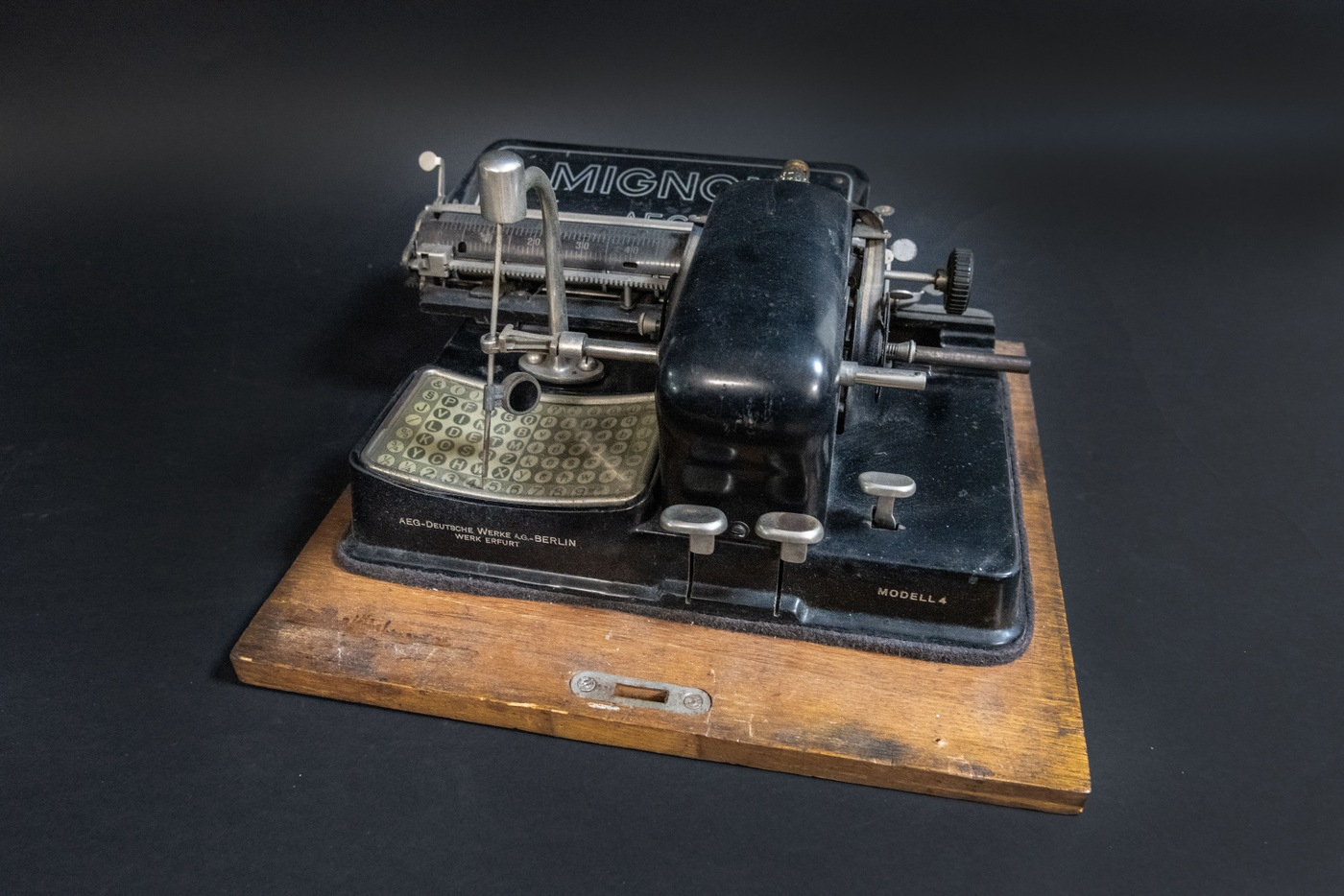 The FBI's August Artifact of the Month is a Mignon 4, a mechanical index typewriter from the early 20th century.