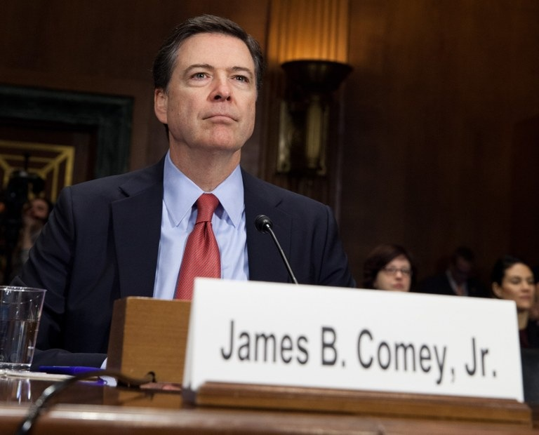 Director James Comey discusses the FBI's programs and priorities for the coming year at a hearing before the Senate Judiciary Committee on December 9, 2015.