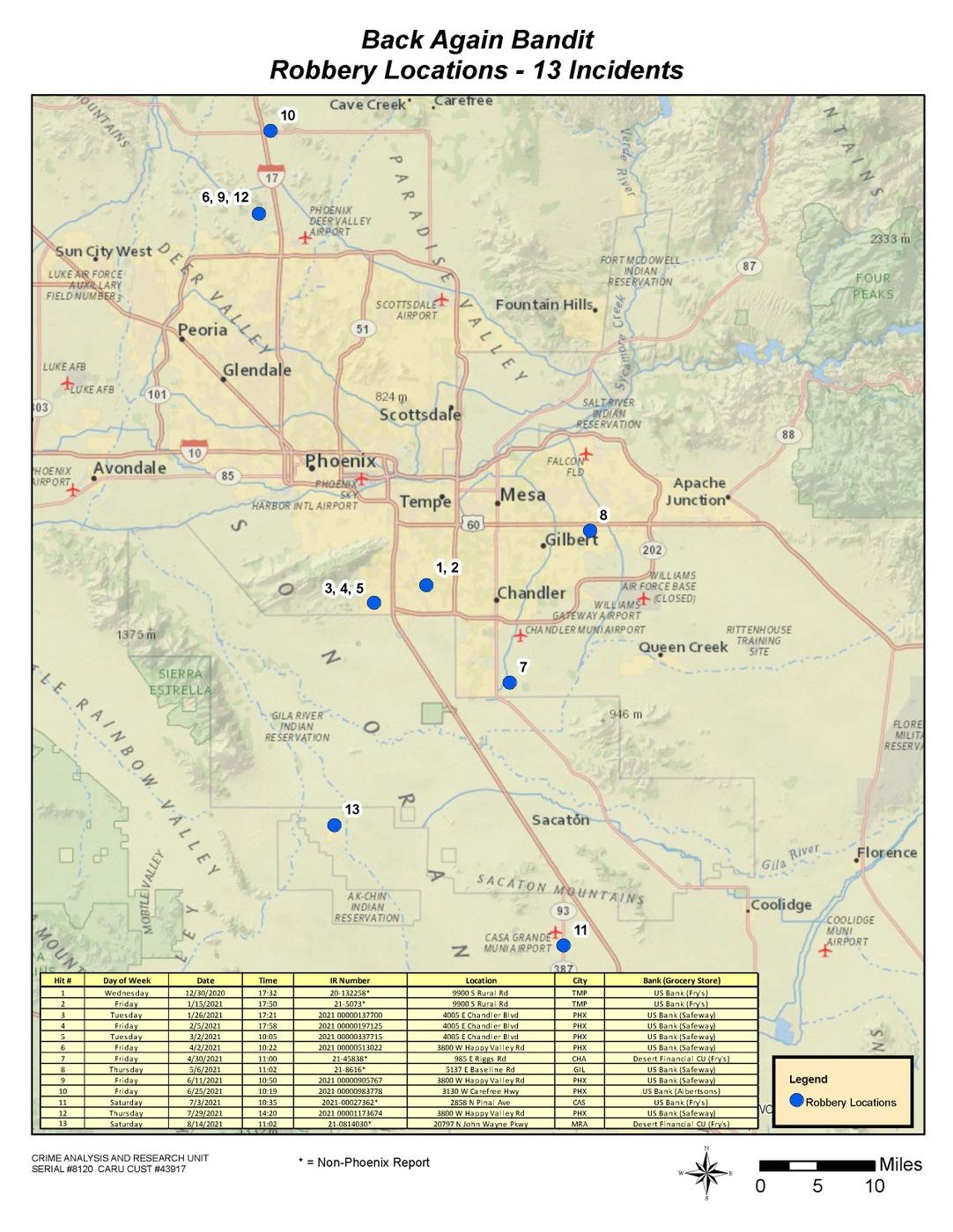 Back Again Bandit Map
