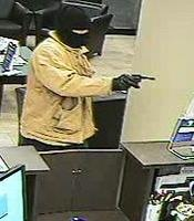 Bank Robber with a Gun