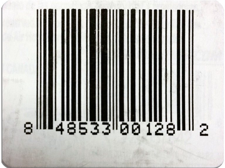 Counterfeit UPC bar codes such as this one were used by Bradley Prucha in his multi-state retail theft scheme.