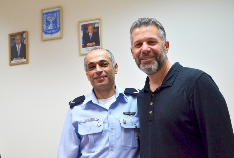 Israel National Police Brig. Gen. Coresh Barnoor and Cary Gleicher, the FBI's legal attaché in Israel, meet at Lahave 433, the INP's investigative arm in Tel Aviv on March 1, 2017.