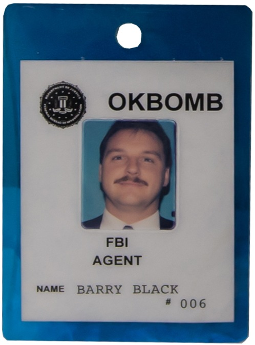 Credentials for OKBOMB, the FBI's Oklahoma City Bombing investigation.