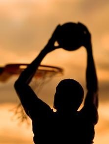 Silhouette of Basketball Player (Stock Image)