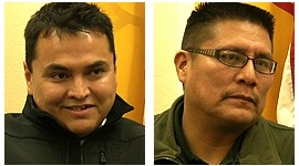 Donovan Becenti, left, is a crime scene technician for the Navajo Nation. Malcolm Leslie is a criminal investigator in Crown Point in Northwest New Mexico.